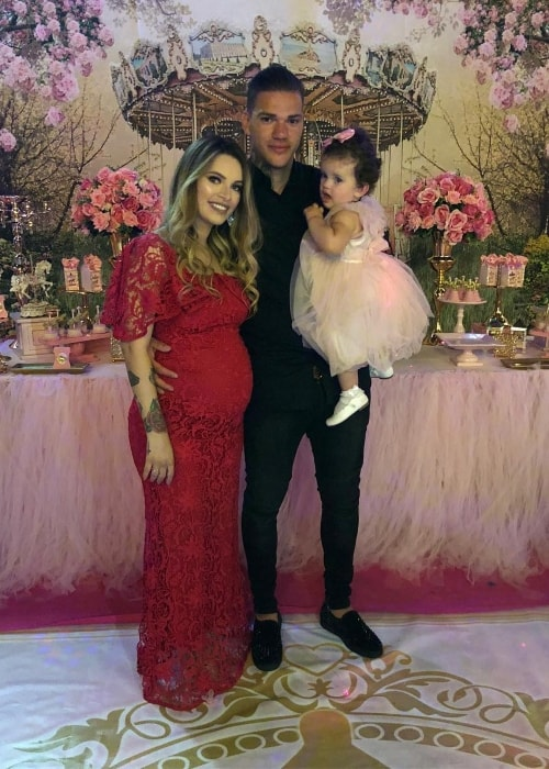 Ederson with his family in July 2018