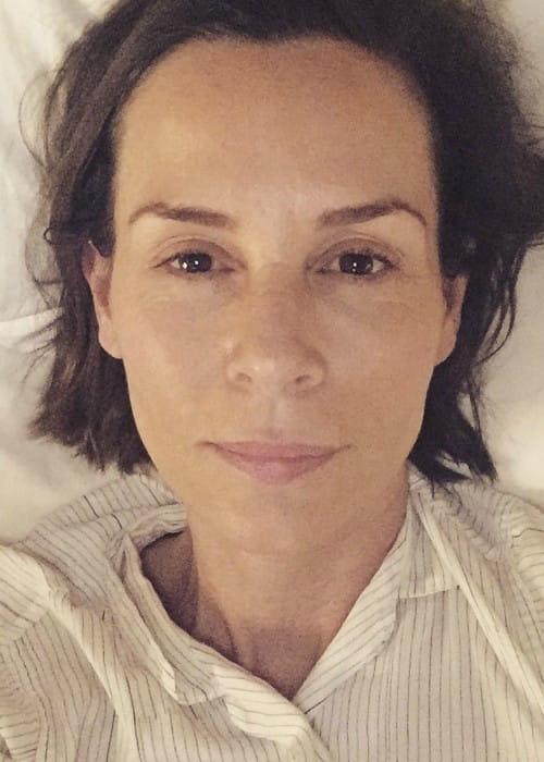 Embeth Davidtz in a selfie in July 2016