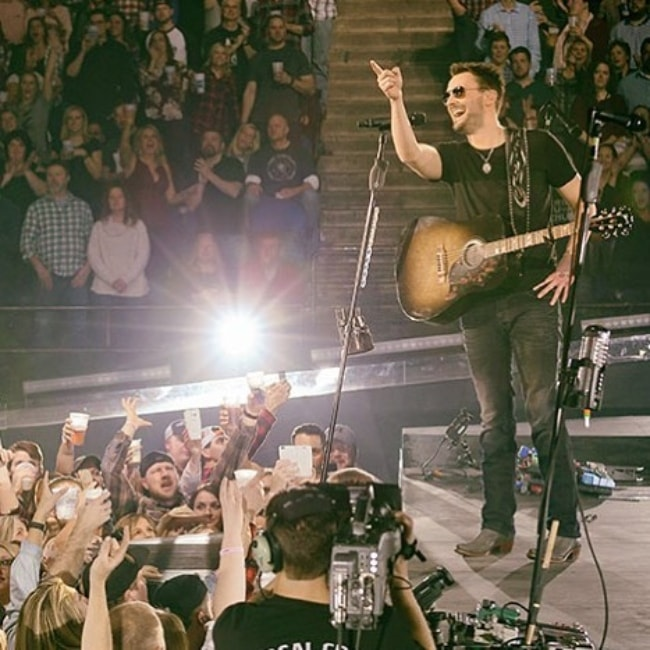 Eric Church as seen while performing for his fans