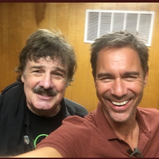Eric McCormack (Right) in a selfie with Burton Cummings in September 2018