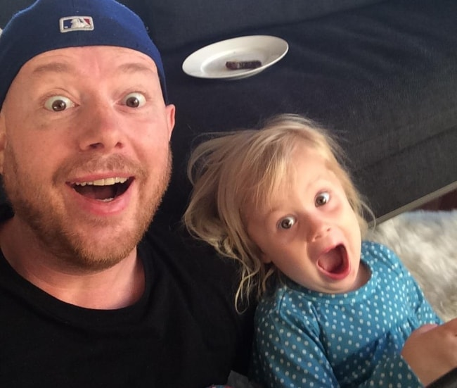 Eric Prydz in a selfie with his daughter in February 2014
