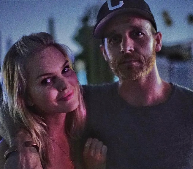 Ethan Embry with Sunny Mabrey in August 2015