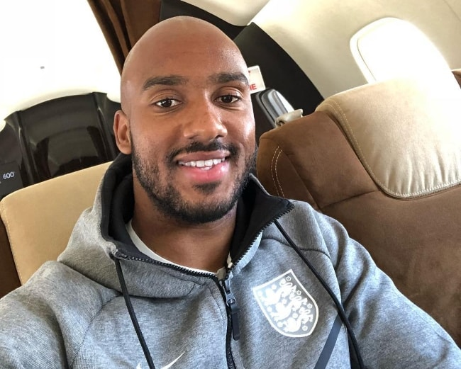 Fabian Delph in a selfie in July 2018