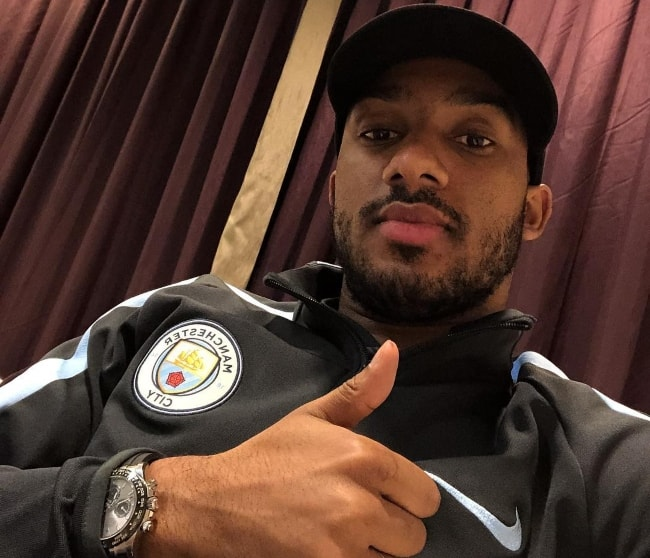 Fabian Delph in a selfie in November 2017