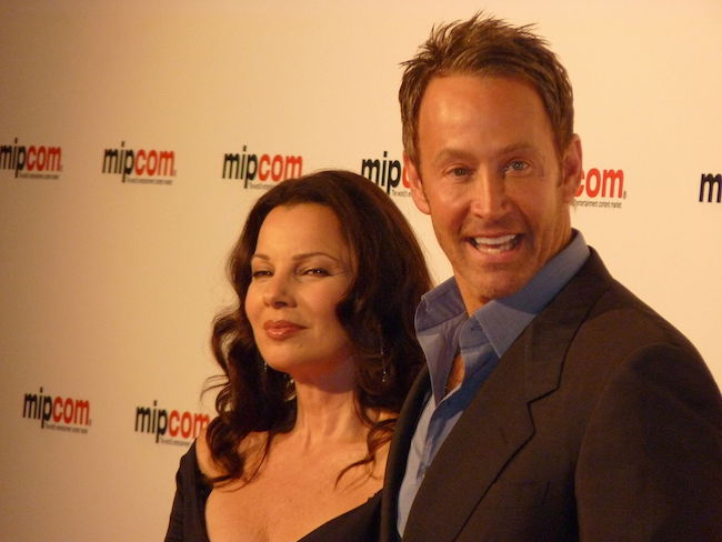 Fran Drescher and Peter Marc Jacobson during the 2011 MIPCOM in Cannes
