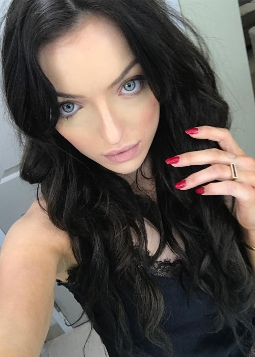 Francesca Eastwood in a selfie in October 2017