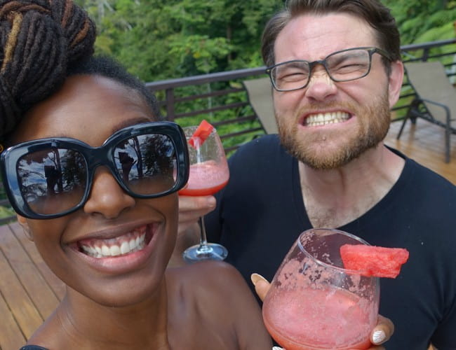 Franchesca Ramsey and Patrick Kondas in a selfie in January 2018
