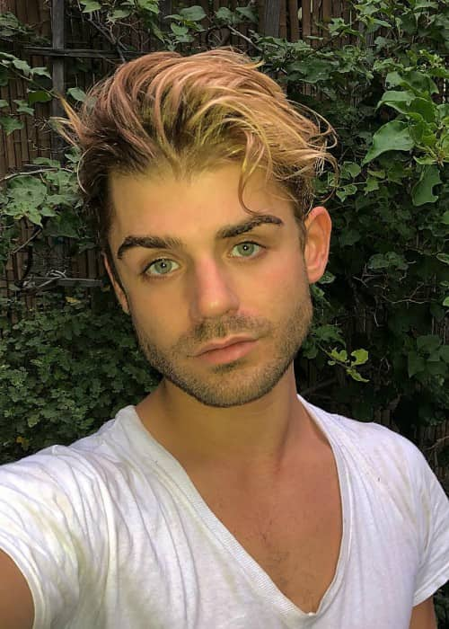Garrett Clayton in a selfie as seen in September 2018