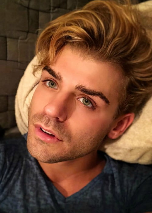 Garrett Clayton in an Instagram selfie as seen in September 2018