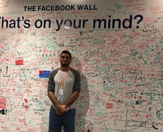 Gegard Mousasi at the Facebook headquarter in September 2018