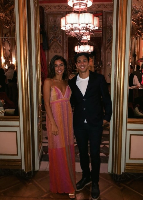 Giovanni Simeone with Giulia Coppini in September 2018