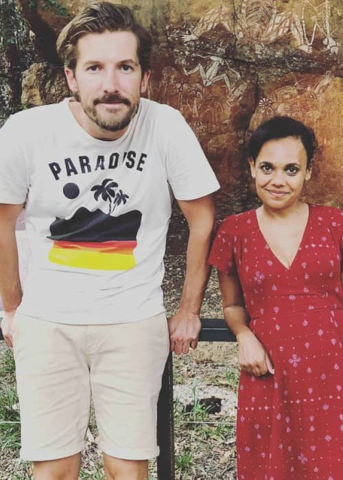 Gwilym Lee and Miranda Tapsell as seen in May 2018