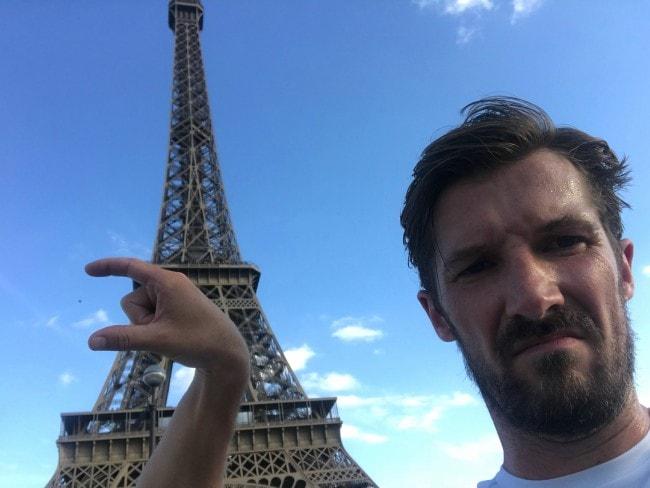 Gwilym Lee in Paris as seen in September 2018