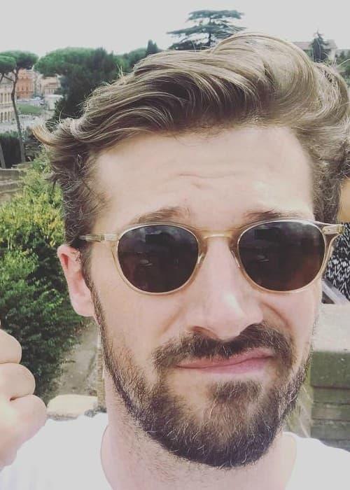 Gwilym Lee in an Instagram selfie as seen in September 2018