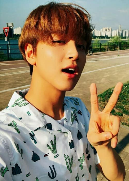 Haechan in a selfie in June 2018