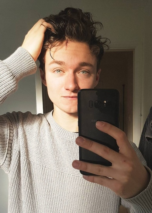 Harrison Osterfield in a selfie in January 2018