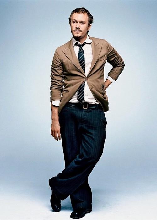 Heath Ledger during a photoshoot