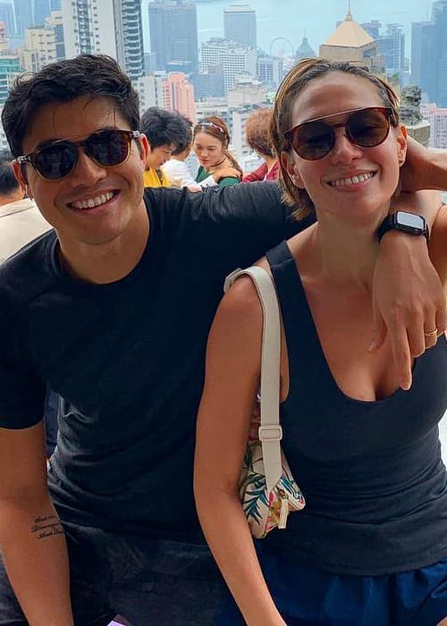 Henry Golding and Liv Lo as seen in October 2018