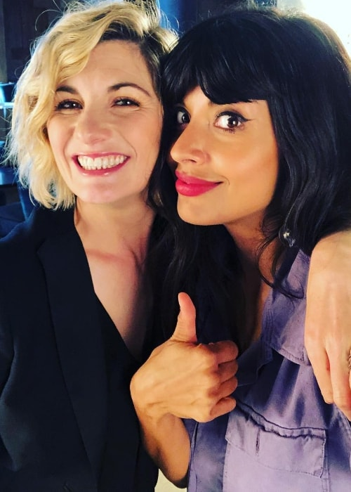 Jameela Jamil in a selfie with Jodie Whittaker in October 2018