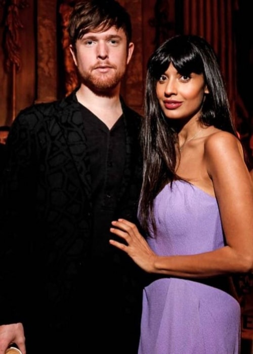 Jameela Jamil with James Blake in June 2018