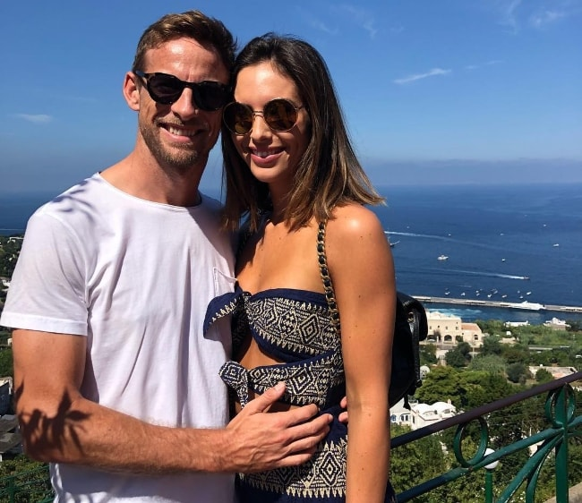 Jenson Button with Brittny Ward
