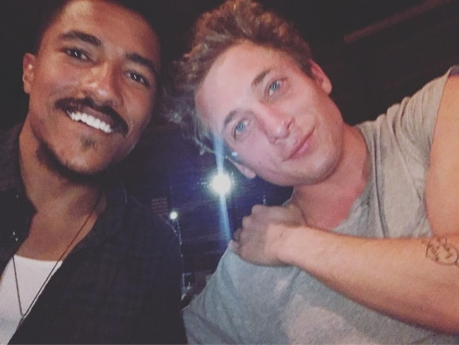Jeremy Allen White (Right) with Kahiem Rivera in May 2017