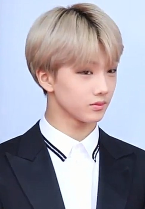 Jisung during an interview on the red carpet of the 24th Dream Concert in May 2018
