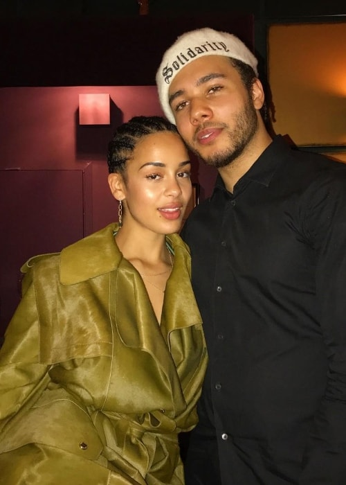 Joel Compass with Jorja Smith at Royal Albert Hall in September 2017
