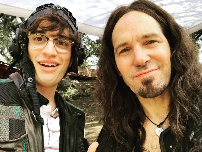 Joey Bragg (Left) in a selfie with David Wain in August 2017