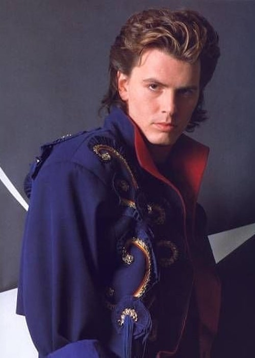 John Taylor gives an attractive stare for a photoshoot