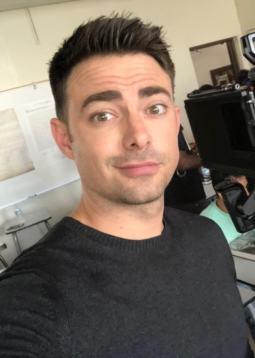 Jonathan Bennett in Sunday selfie in September 2018