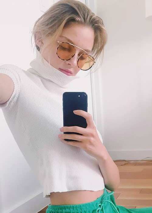 Julia Belyakova in a selfie May 2018