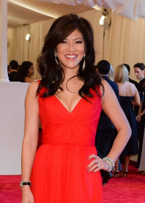 Julie Chen as seen in a stunning red dress