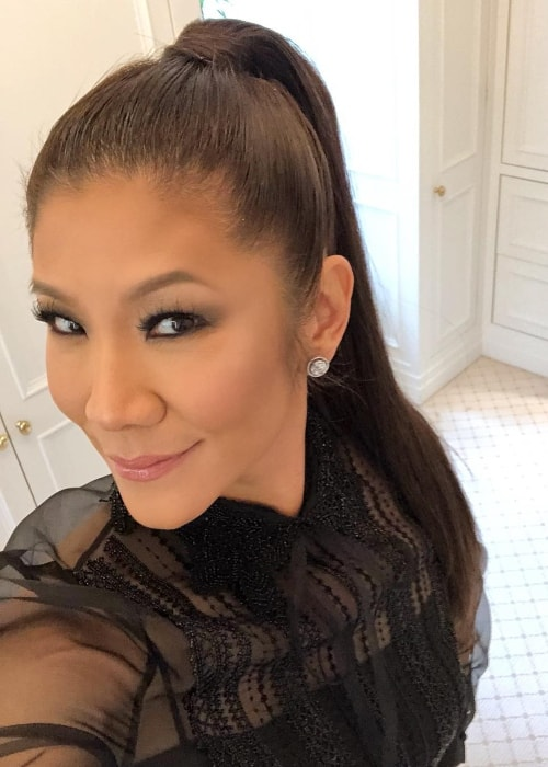 Julie Chen in a selfie in May 2018
