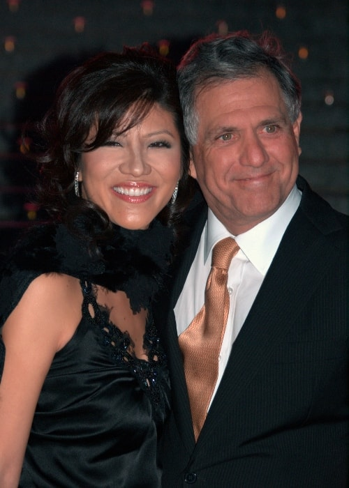 Julie Chen with Les Moonves at the Vanity Fair celebration for the Tribeca Film Festival in April 2009
