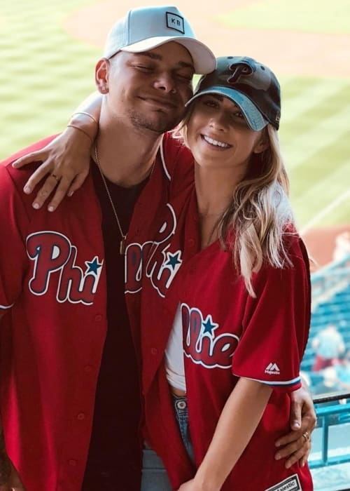 Kane Brown and Katelyn Jae as seen in August 2018