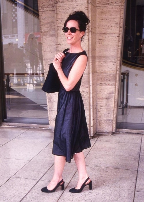 Kate Spade as seen in a all-black attire