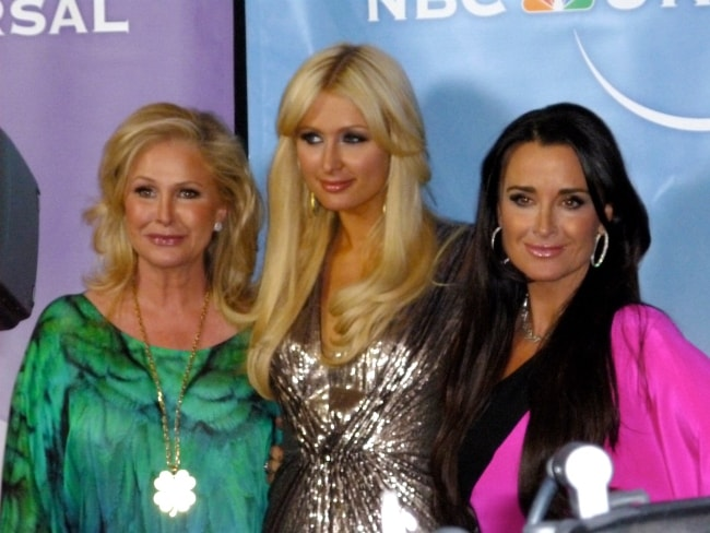 Kathy Hilton (Corner Left) with Paris Hilton (Center) and Kyle Richards at NBC party at TCA in February 2011