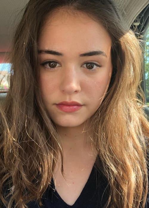 Kaylee Bryant in an Instagram selfie as seen in May 2018