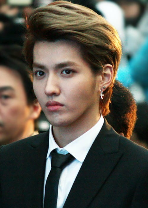 Kris Wu at the Hallyu Star Street in March 2014