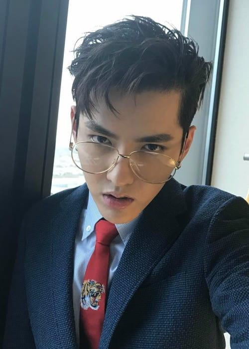 Kris Wu in a selfie in March 2017