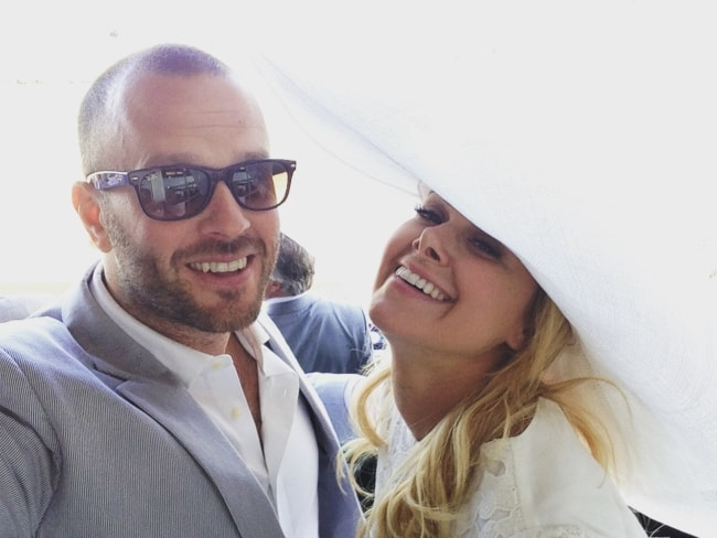 Laura Bell Bundy and Thom Hinkle in a selfie in May 2018