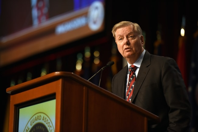 Lindsey Graham as seen while addressing the National Guard Association of the United States 138th General Conference in September 2016