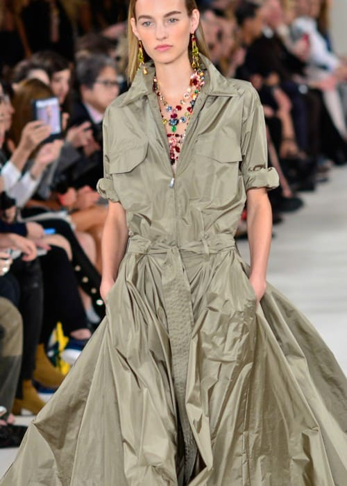 Maartje Verhoef walking the Ralph Lauren Spring Summer 2015 fashion show