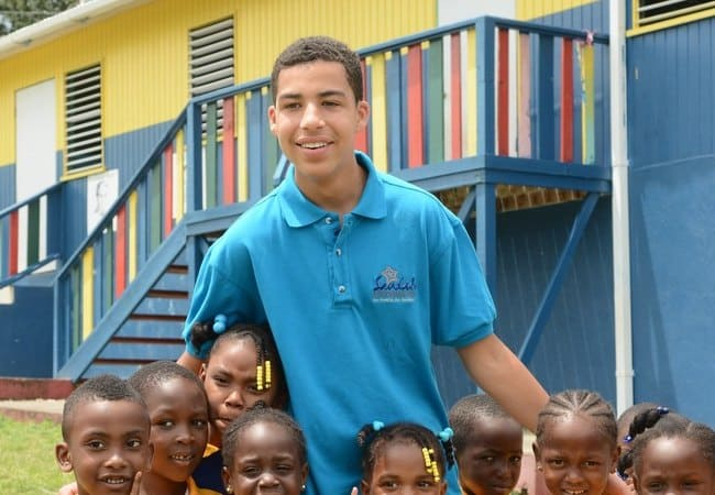 Marcus Scribner working for the Sandals Foundation in April 2016