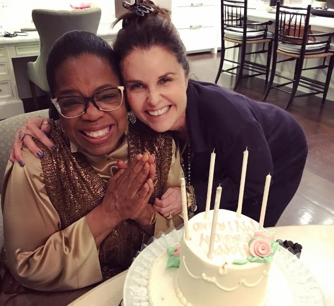 Maria Shriver (Right) with Oprah Winfrey celebrating Oprah's birthday in 2018