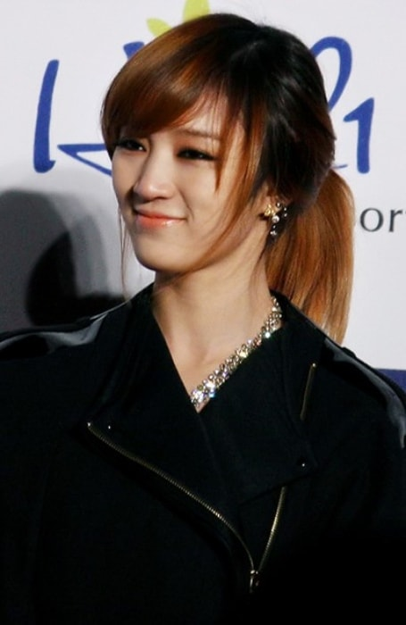 Meng Jia at Seoul Music Awards in January 2012