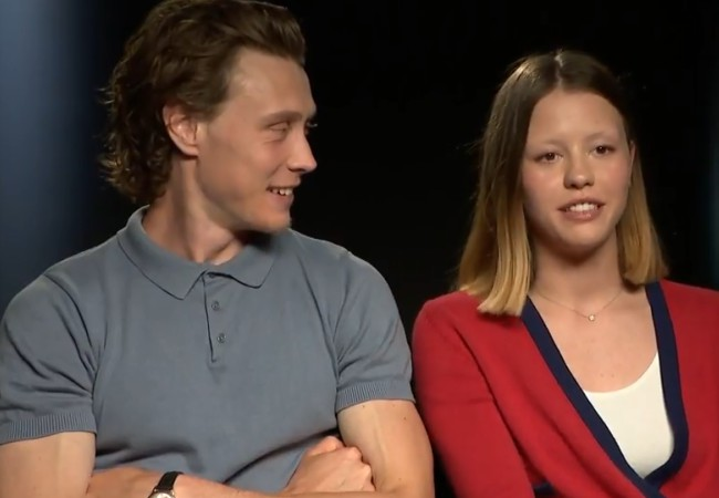 Mia Goth and George MacKay as seen in July 2018