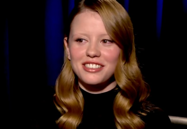 Mia Goth during an interview in February 2017