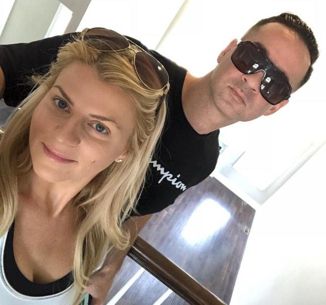 Mike Sorrentino in a selfie with Lauren Elizabeth in July 2018